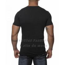 Blusa Masculina Qualidade Camiseta Regata Gola V Gola Grande