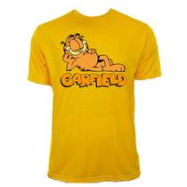 Camiseta Infantil Juvenil Amarela Garfield Gato Amarelo 02
