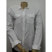 Abercrombie Camisa Feminina Xadrez Manga Longa