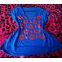 Blusa Batinha Azul Com Estrelas P