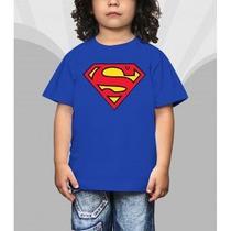 Camiseta Super Man Herois Infantil Desenho Super Homem