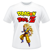 Camiseta Goku Sayajin 3 Dragon Ball Z Adulto E Infantil