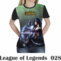 Camiseta Blusa Games League Of Legends Feminina Lol 028