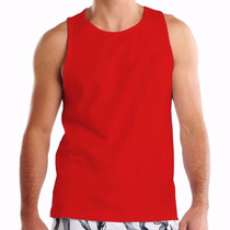 Camiseta Regata Lisa Cores Malha 100% Poliester