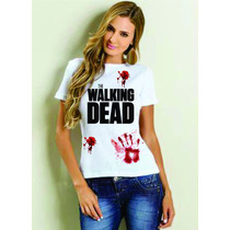 Camiseta Baby Look Feminina The Walking Dead - Infectado