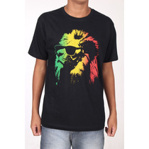 Camiseta - Lion Of Judah - Reggae - Frete Gratis