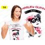 Baby Look Heroinas Harley Quinn Mary Jane Mulher Maravilha