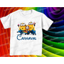 Camiseta Minions Carnaval Infantil Masculina E Baby Look