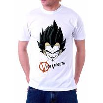 Camiseta V For Vegeta Anime Dragon Ball