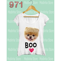 Tshirt Feminina Cão Pet Lulu Pomerania Raça Estampa Chic