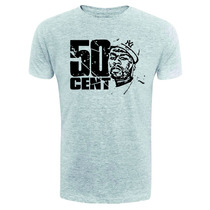 Camiseta 50 Cent - Exclusiva - Rosto - Hip Hop - Rap