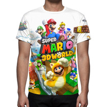 Camisa, Camiseta Game Super Mario 3d World - Estampa Total