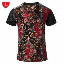 Camiseta Veludo Estampa 3d