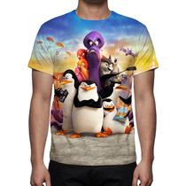 Camisa, Camiseta Filme Os Pinguins De Madagascar - 2015