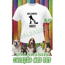 Camiseta Infantil Pet Animal De Estimação Dalsassus