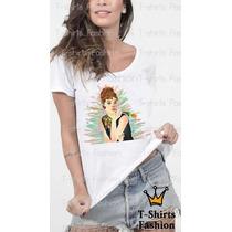 Audrey Flores Camiseta T-shirts Fashion Abstrato