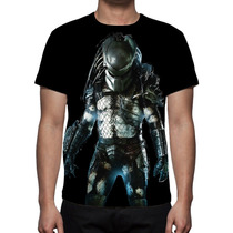 Camisa, Camiseta Filme Predador - Estampa Total