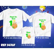Kit Camisetas Personalizadas Aniversário Pequeno Príncipe