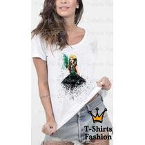 Gaga Com Drink Camiseta T-shirts Fashion Abstrato