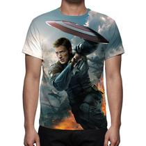 Camisa, Camiseta Capitão América Soldado Invernal Mod 02