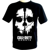 Camiseta Call Of Duty Ghosts - Camisa Games E Bandas