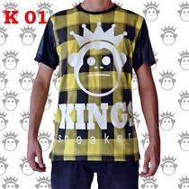 Camisetas Kings Sneakers Masculinas E Femininas