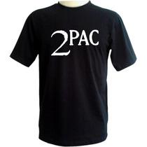 Camiseta Tupac - 2pac -preta - Emblema - Hip Hop - Rap