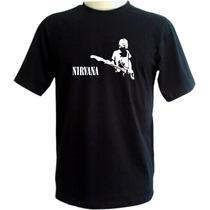 Camiseta Nirvana - Exclusiva - Preta - Kurt Cobain - Rock