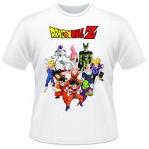 Camiseta Dragon Ball Z Anime Desenho Camisa Frente Verso