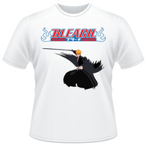 Camiseta Bleach Anime Ichigo Kurosaki Verso Camisa #03