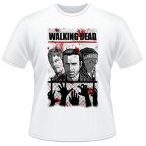 Camiseta The Walking Dead Série Amc Frente E Verso Camisa