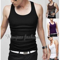Camiseta Regata Slim,tank, Musculação,cavada,gola V,blusas