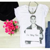 Camiseta Feminina Justin Bieber