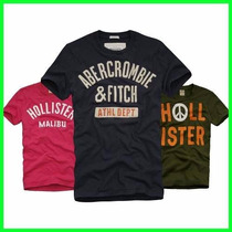 Camisetas Hollister/abercrombie Bordadas Pronta Entrega 100%