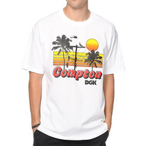 Camiseta Dgk Welcome To Compton White Skate - Pronta Entrega