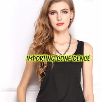 Camiseta Regata Social Feminina Importada P. Entrega 30% Off