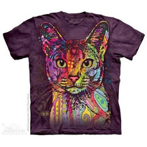 Camiseta Russo Green Gato/ Abyssinian Cat - Original