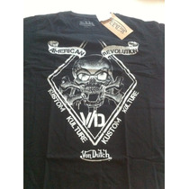 Camiseta Von Dutch Caveiras Harley Custom Skull Vintage