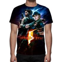 Camisa, Camiseta Game Resident Evil 5 - Estampa Total