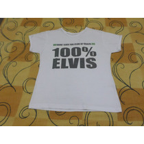 Camiseta Baby Look Tamanhop Elvis Fan Club Brazil Bom Estado