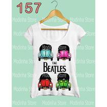 Blusa Tshirt Feminina Estampa The Beatles Banda Rock Fuscas