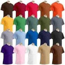 Camiseta Lisa Em Algodão Fio 30 Cardado
