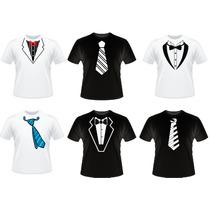 Camiseta Social Terno E Gravata Paletó Blazer Smoking