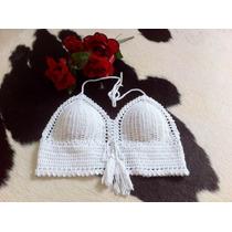 Top Cropped De Croche Com Bojo Todas As Cores E Tamanhos