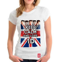 Camiseta One Direction - Baby Look Feminina