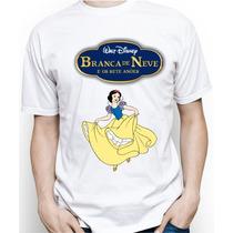 Camiseta Infantil Personalizada Da Branca De Neve
