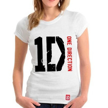 Camiseta One Direction - Baby Look Feminina