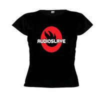 Camisetas Baby Look Banda Audioslave - Feminino