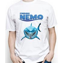 Camiseta Adulto Personalizada Do Procurando Nemo