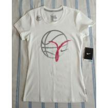 Nike Blusinha Academia Dry-fit Cotton Tee / T-shirt Branca